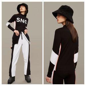 Topshop SNO Logo Long Sleeve Top Size 2